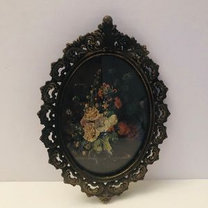 Antique brass small picture frame